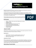 Carbon Fibre Fishing Pole Repair Kit Instructions