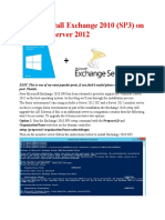 How to Install Exchange 2010 on Windows r2
