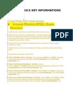 Cie Physics Key Informations