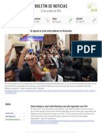 Boletín de noticias KLR 24OCT2016