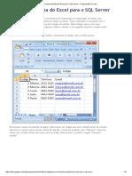 Importar Planilha Do Excel Para o SQL Server