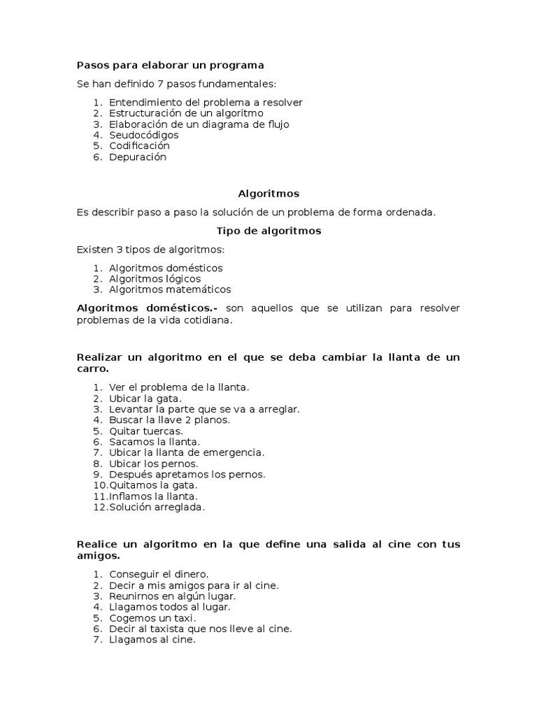 Pasos para elaborar un programa 1536687298v1 ccuart Image collections