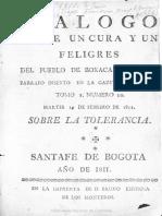Padilla, Dialogo 1811