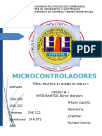 MICROCONTROLADORES (Practica #1 Con Led y Display).docx
