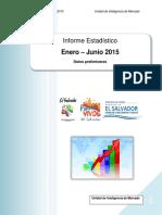 Informe Estadistico Enero Junio 2015