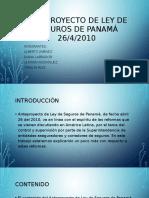 Anteproyecto de Ley de Seguros de Panamá 26