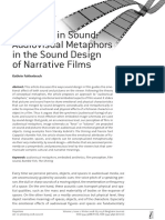 Emotions in Sound Audiovisual Metaphors in the Sound Design of Narrative Films