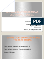 Presentación Teorías Contemporaneas Del Trabajo Social