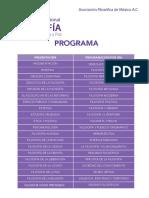 Programa Congreso FILOSOFIA AFM 2016