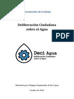 Documento de trabajo Plan Nacional de Aguas