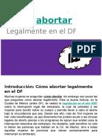Cómo abortar legalmente en el DF