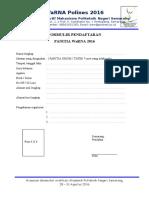 Form Panitia Dan Tatib WaRNA (Umum)