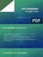 Diapositiva Ius Poniendi y Poenali