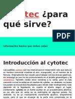 Cytotec ¿para qué sirve-