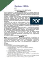 Convocatoria Elecciones CEOSL