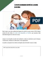 [Advertencia] Horribles Efectos Secundarios Después de La Vacuna Contra El VPH Capturado en Vídeo