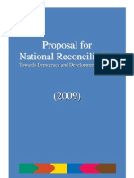 Proposal for National Reconciliation
