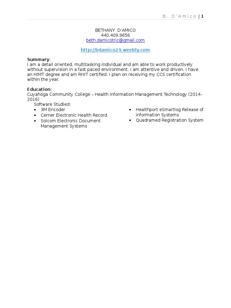 Resume 2016 Overdraft Service Industries