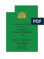 Comparative Studies Constitution of the Union of Burma