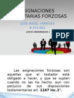 ASIGNACIONES HEREDITARIAS FORZOSAS