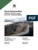 2015 Diavik Diamond Mine Technical Report