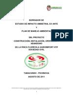 Borrador de Estudio de Impacto Ambiental Finca Floricola Agroimport