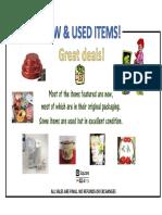 catalog of items