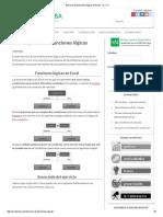 Ejercicio de Funciones Lógicas en Excel - SI, Y, O