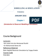 Ch 1 Introduction to Reservoir Modelling Simulation