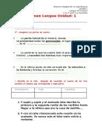 Examen Lengua Unidad 1