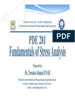 Fundamentals of Stress Analysis Conclusion