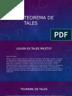 Teorema de Tales