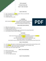 first quarter study guide