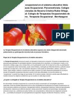 Zonahospitalaria.com-El Papel de La Terapia Ocupacional en El Sistema Educativo Idoia Cirez Garayoa Terapeuta Ocupacional