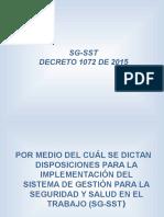 Capacitacion Decreto 1072 de 2015 Capitulo 6 Sgsst