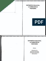 Matematica Educativa La Formación de Profesores--flores Garcia Hernandez-Guerrero