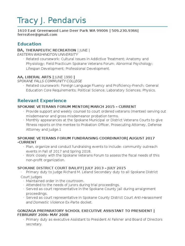 resume tracy 435 | Politics | Government