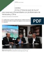"Programa Satelital Vrss-2 ""Antonio José de Sucre"""