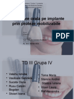 Reabilitare Pe Implant Prin Proteze Mobilizabile