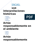 COMPETENCIAS Trabjo de Historia