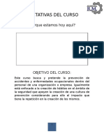 Manual de Curso Prevención de Accidentes