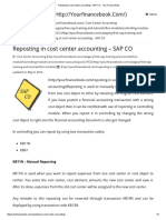 Reposting in Cost Center Accounting – SAP CO - Your Finance Book