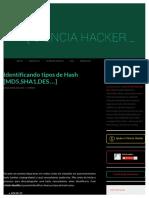 Identificando Tipos de Hash [MD5, SHA1, DeS,.]