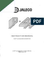 Jaleco - P-47 (1988) - Instruction Manual