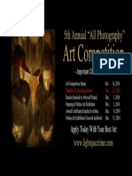 All Photography 2016 Art Competition - Event Poster