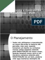 Planejamento e Controle Da Manutenção - PCM