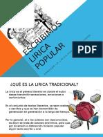 Esposicion 1  Lirica popular mex