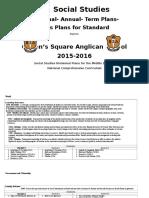 Divisional Plans Middle Social Studies
