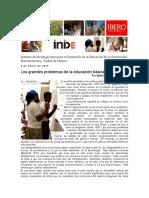 Los Grandes Problemas de La Educación Básica en México. Silvia S.