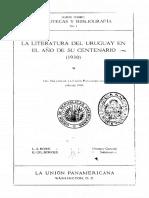 Luisa Luissi - Literatura Del Uruguay en El Año de Su Centenario. 1930